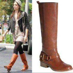 Coach  Natale Riding Boots Tan Leather